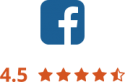 Facebook 4.5 star rating
