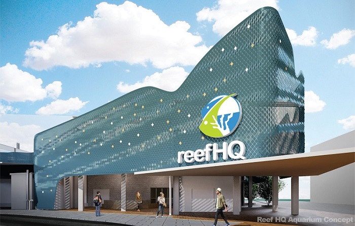 Reef HQ Aquarium concept imagery rekindling an iconic facade