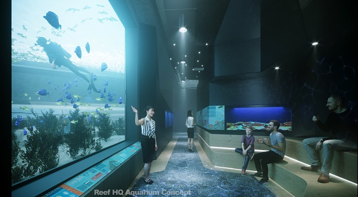 Reef HQ Aquarium concept imagery revitalisation of viewing windows