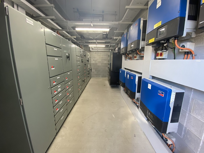 One of three new plant rooms includes the one housing the main switchboard